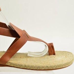Max Studio Women's Tan Leather Toe Sandals Sz 7.5